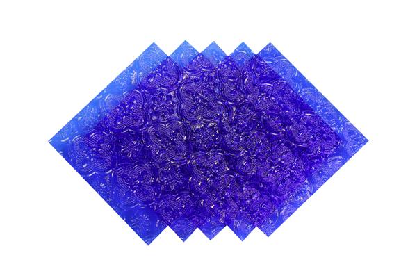 Verre imprimé Orient Bleu 3 mm Image