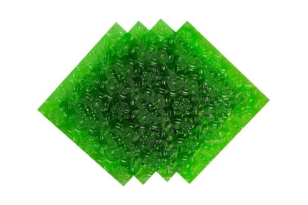 Verre imprimé Orient Vert 3mm Image