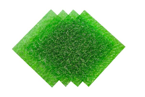 Verre imprimé Neige Vert 4mm Image