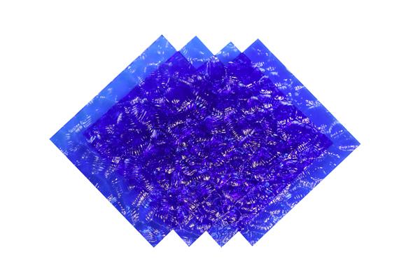 Verre imprimé Neige Bleu Image