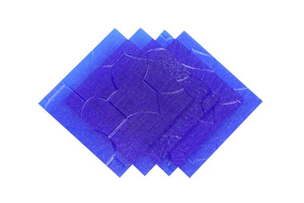 Verre imprimé Puzzle Bleu 3 mm Image
